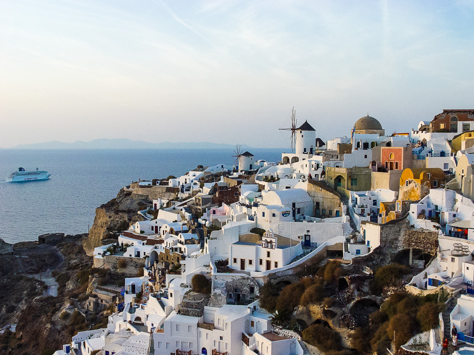santorini greece mediterrenian thira ia oia sunset erasmus islands