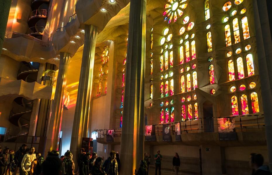 barcelona glass ceramcis gaudi sagrada familia monument spain