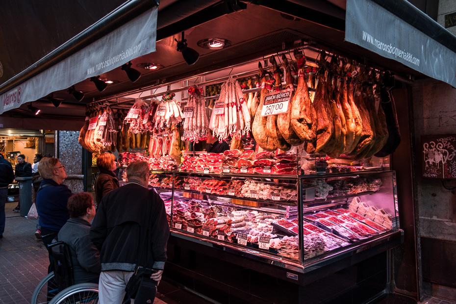 barcelona market rambla shopping
