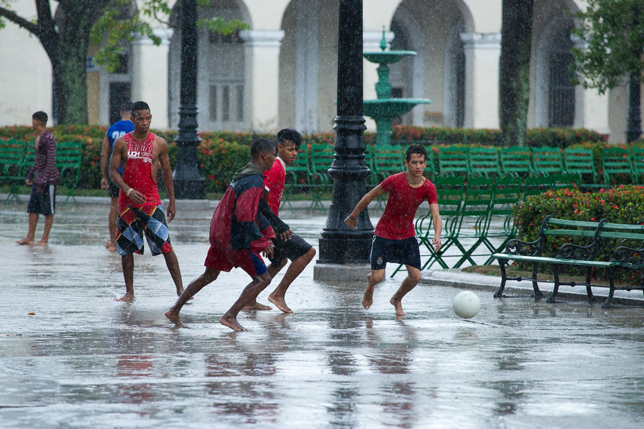 cuba soccer football cubans kids children cienfuegos