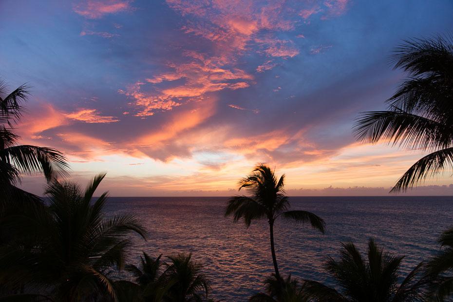 cuba sunset varadero beach caribbean