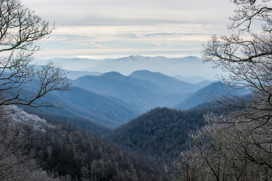 smoky mountains views national park america north carolina