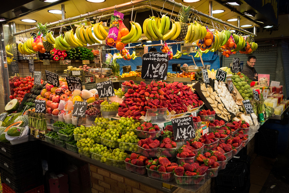 tirgus zemenes barselona rambla