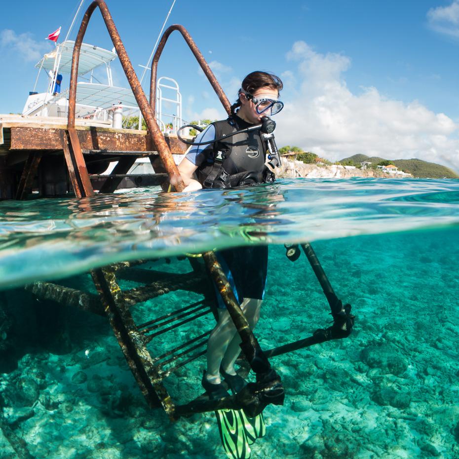 diving curacao alina andrusaite caribbean
