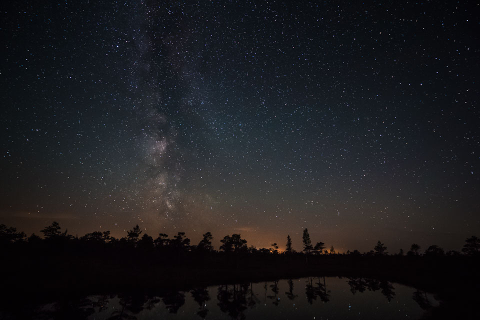 mily way galaxy stars kemeri latvia swamp