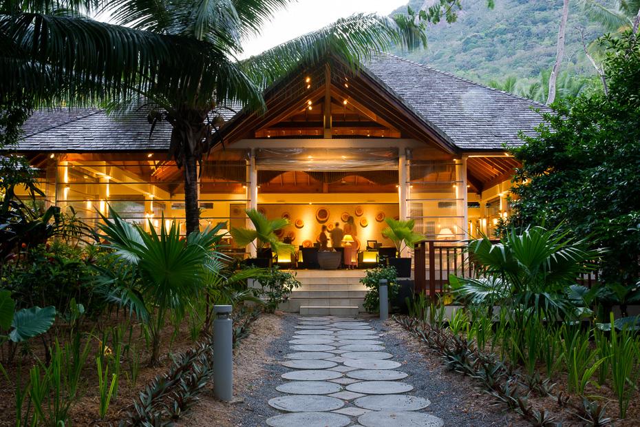 seychelles silhouette hilton labriz reception outdoors
