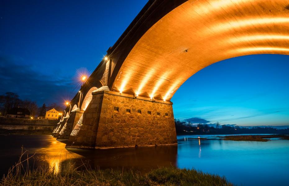 night bridge kuldiga latvia