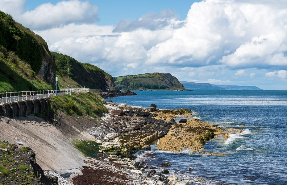 coastal road route through northern ireland