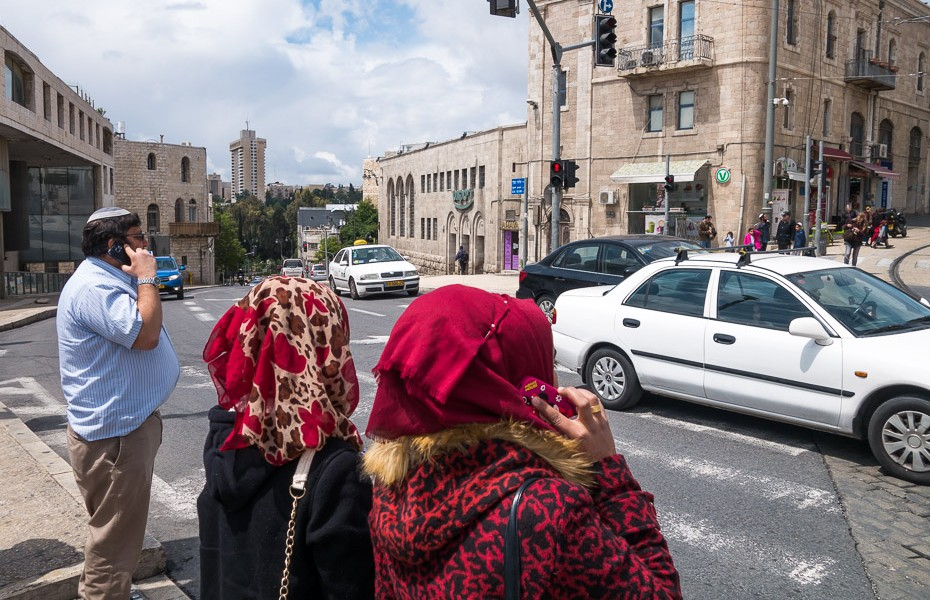 kipa and headdress in jerusalem