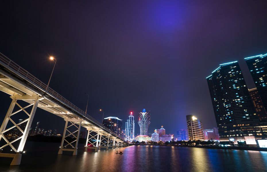 macau casino lights at night