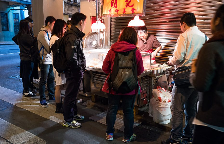 street food at night in macao