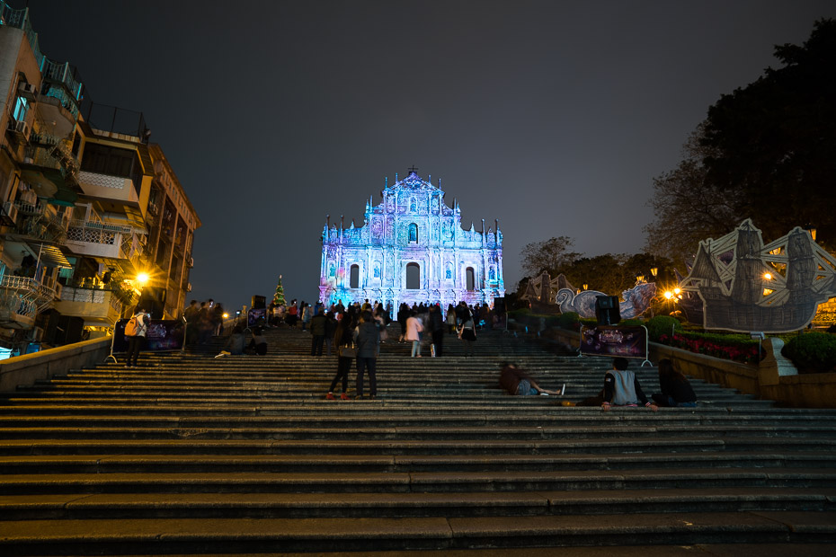 the festival of lights macau st pauls ruins