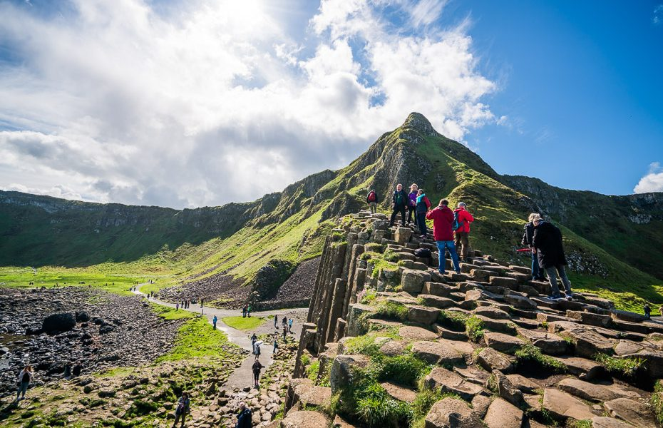 top sight of northern ireland giants causeway