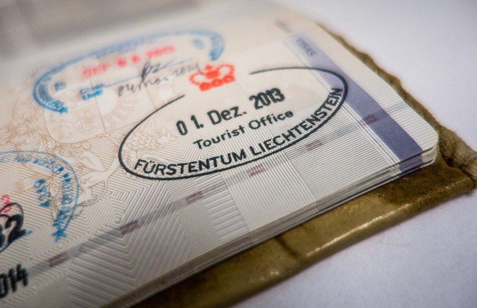 passport stamp liechtenstein
