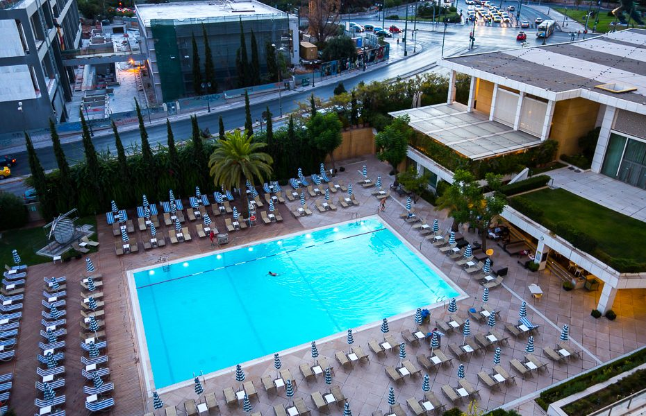 athens hilton swimming pool