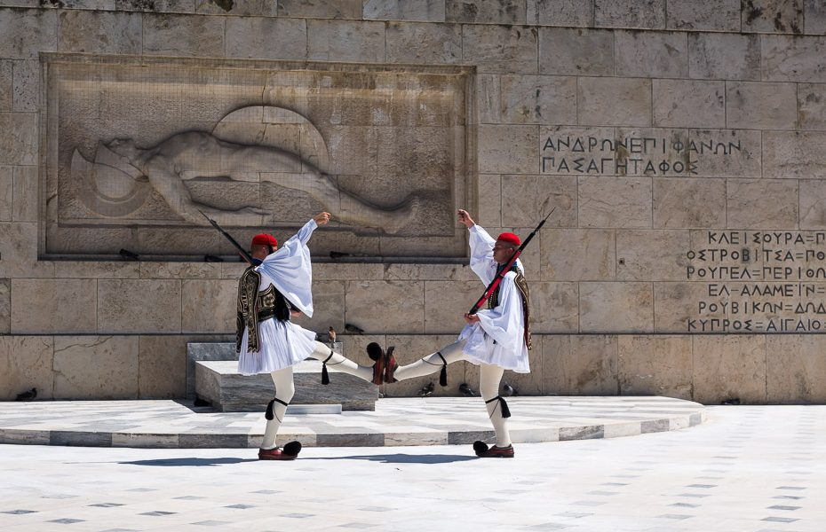 Guards in Greek parlament