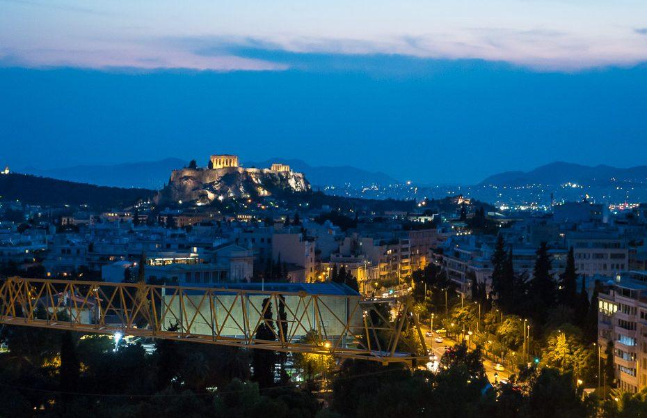 Acropolis from Hilton Athens