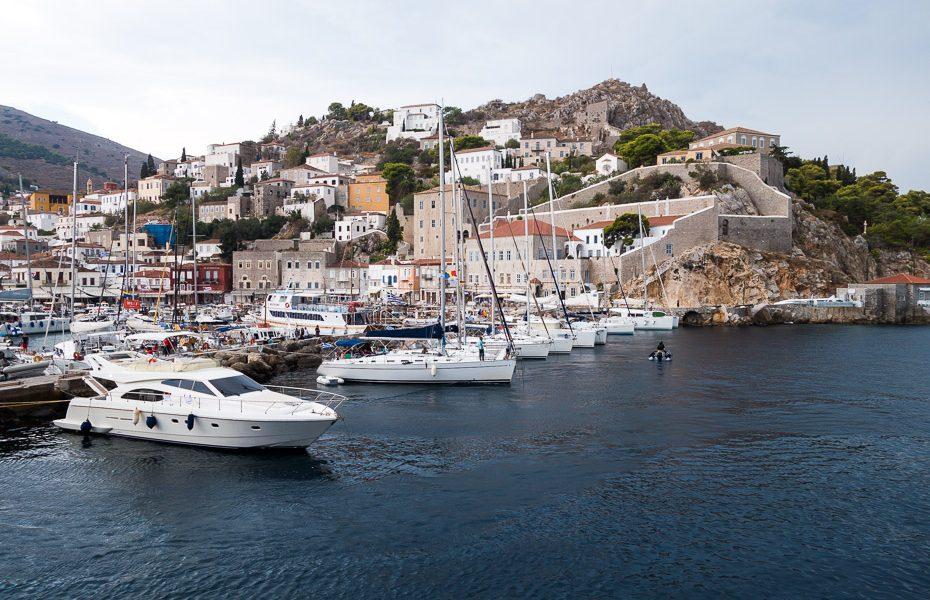 Hydra island in Mediterranean