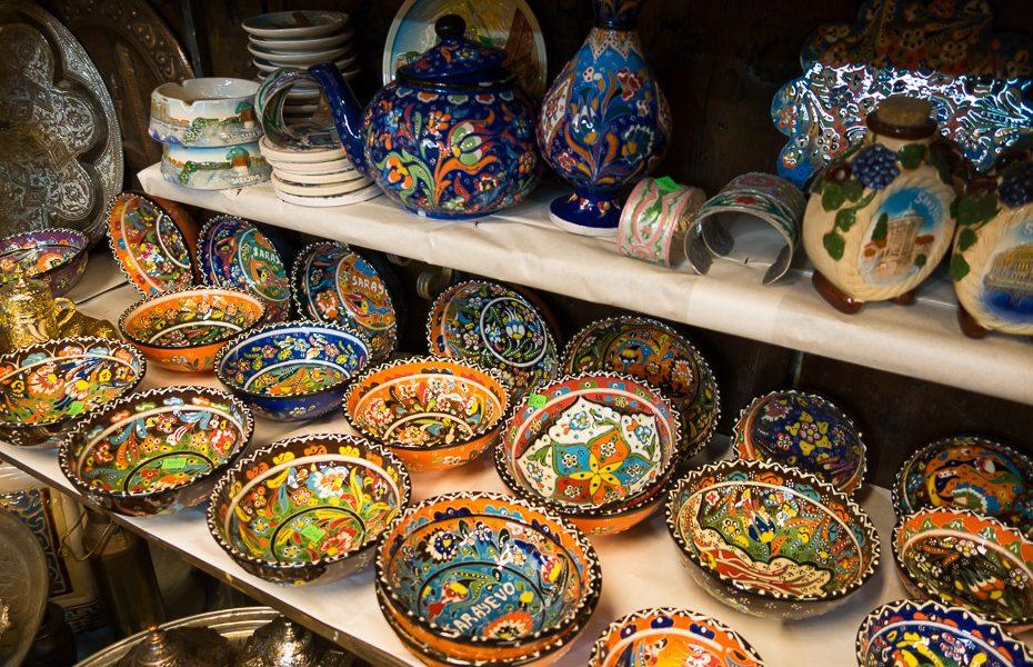 Bascarsija market souvenirs