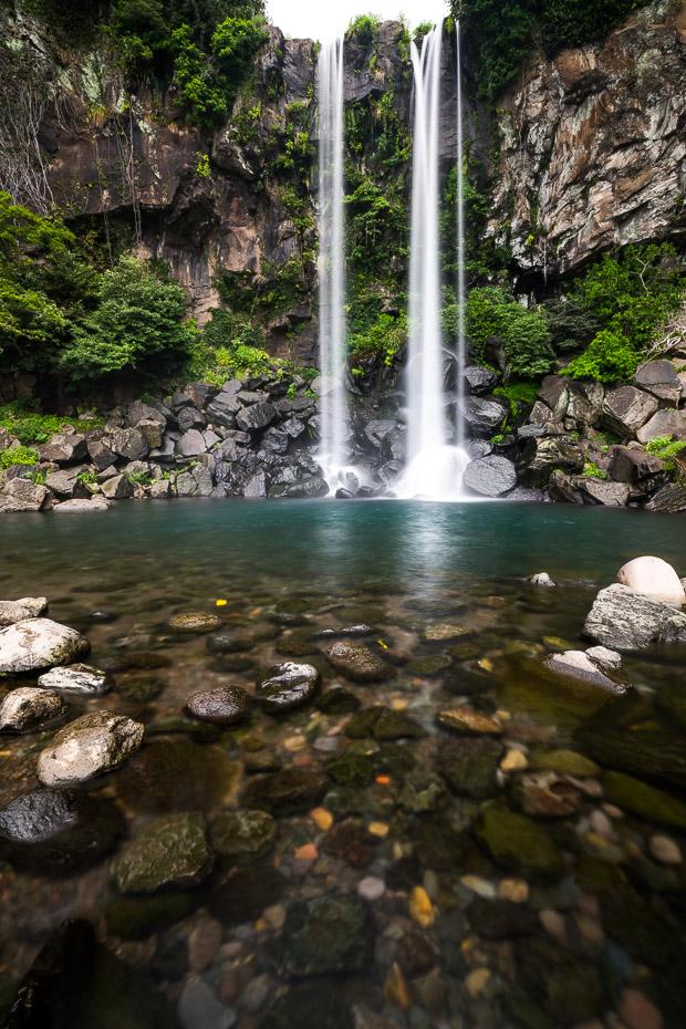 Sea side waterfall