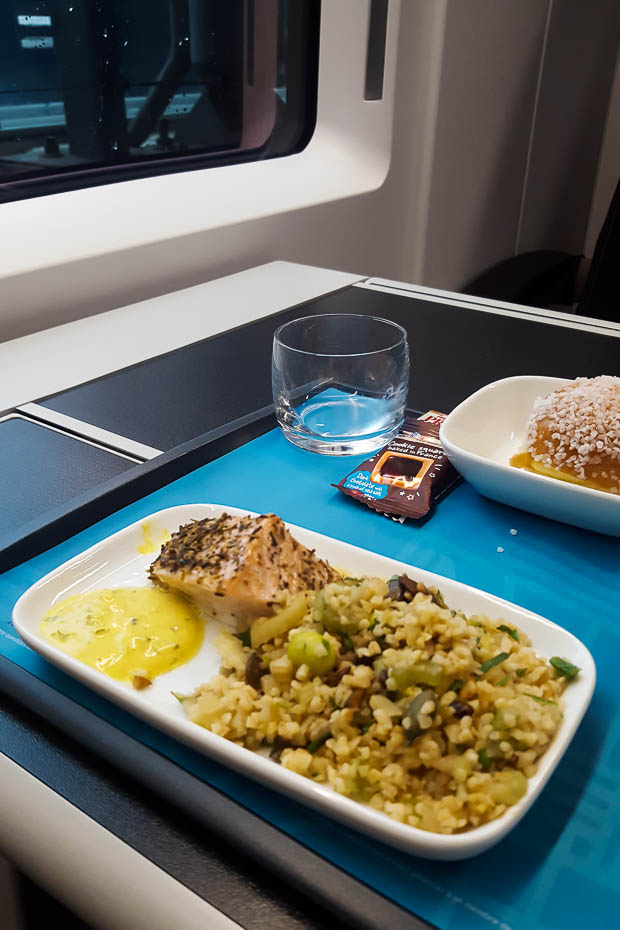vegeterian and special meals options and accessibility on trains in europe