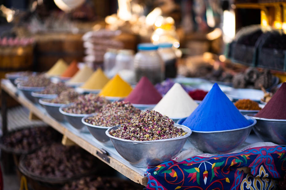 Nubian souvenir markets in Aswan
