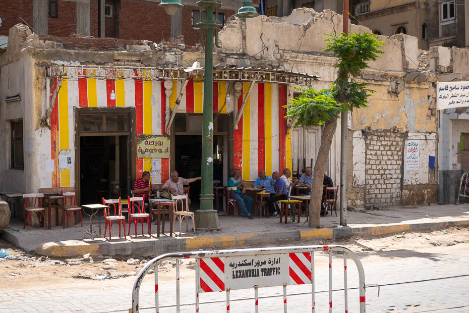 street cafe in Alexandria