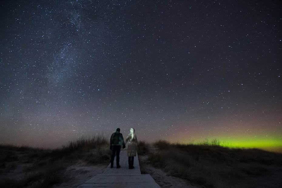 Lilaste beach northern lights aurora