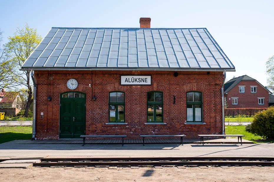 aluksne narrow gauge railway station