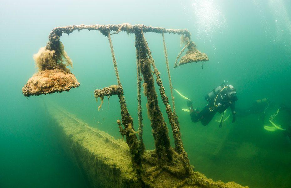 diving in rummu quarry