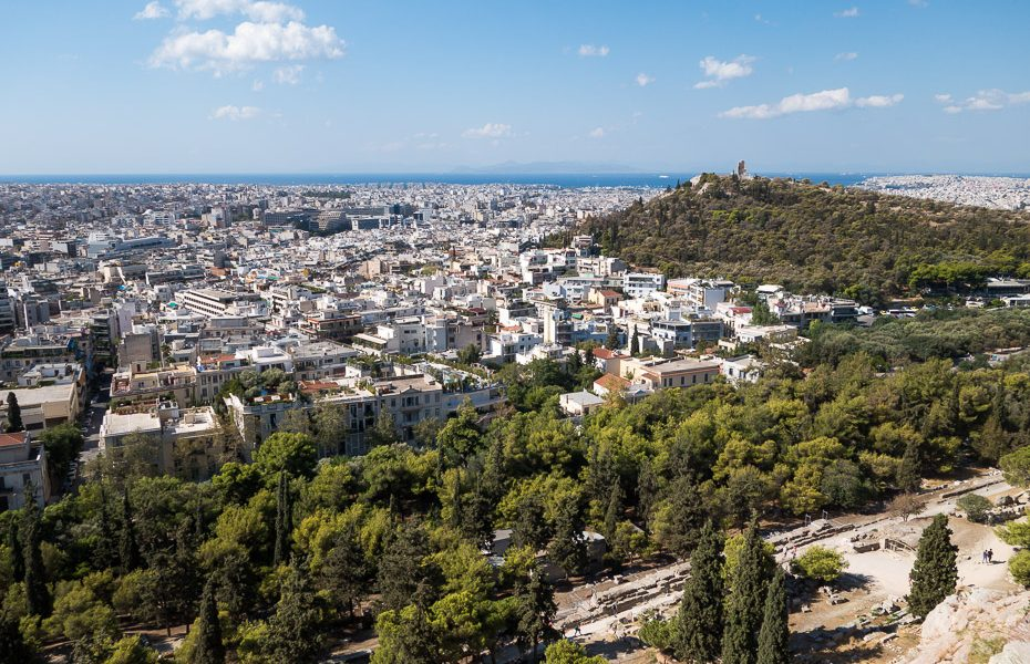 city view from Greek acropolis