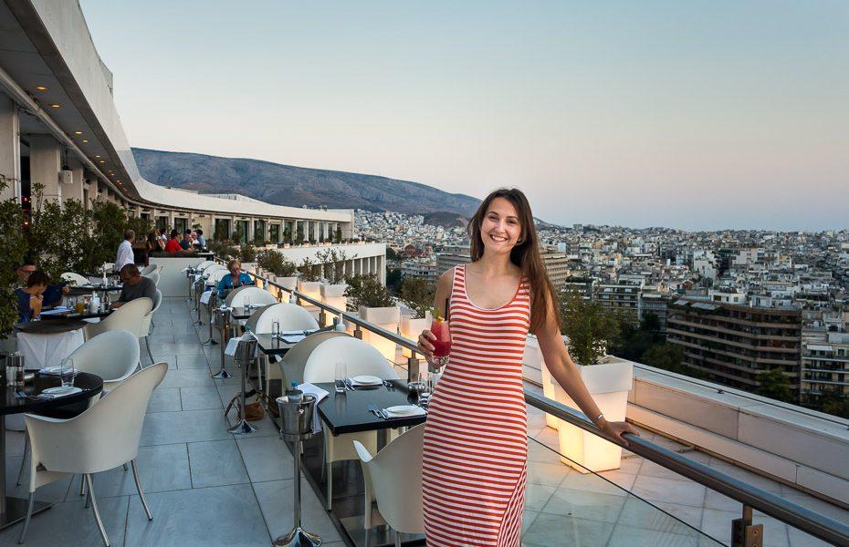 Dinner in Galaxy bar Hilton Athens