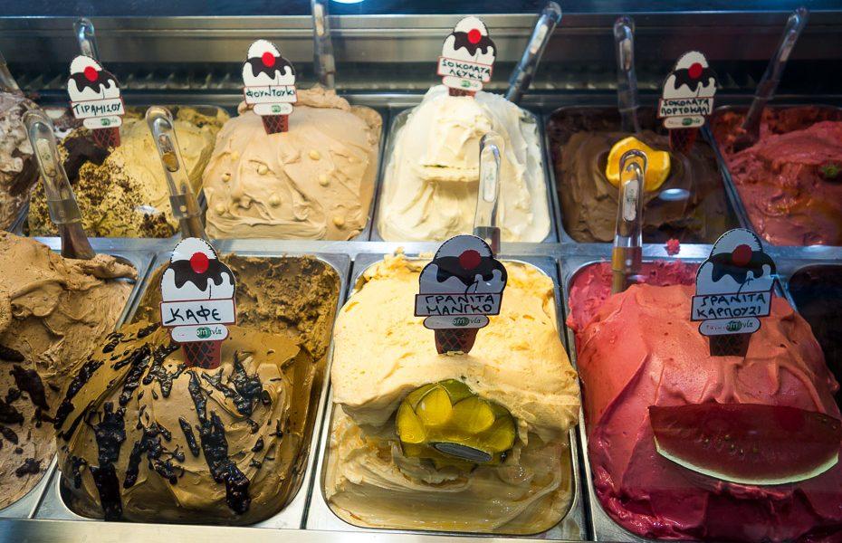 Ice cream in Greek islands