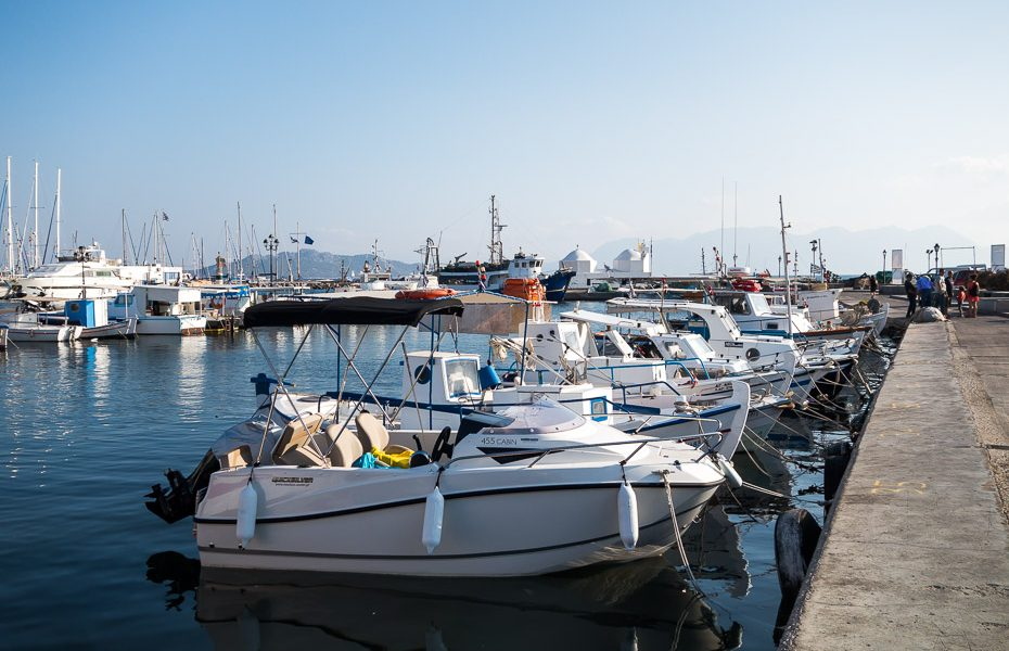 Pier in Greece Aegina