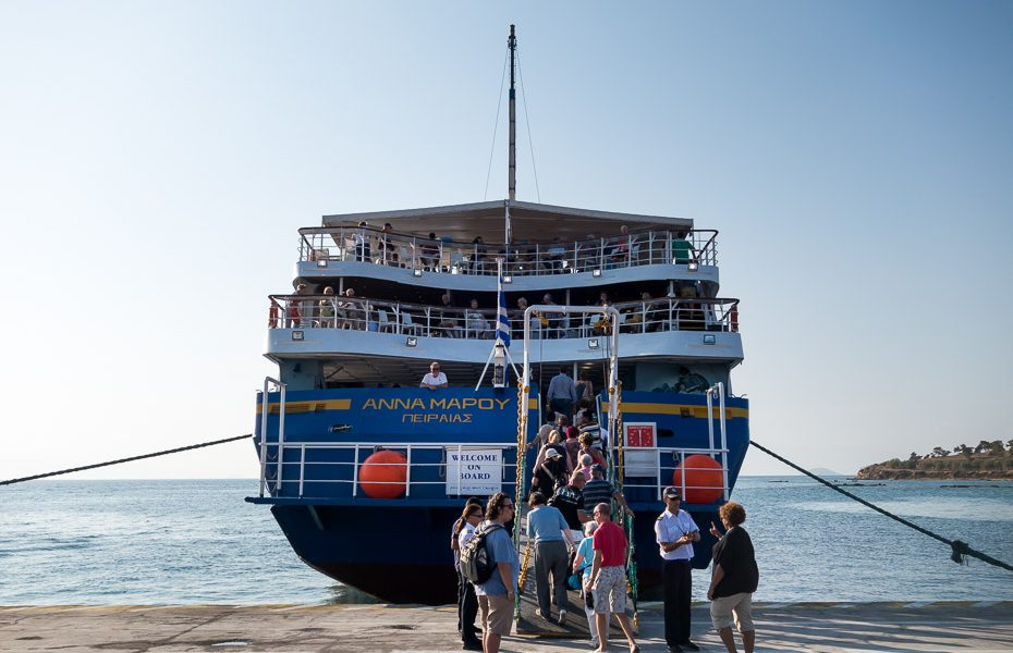 Greece ferry to silands