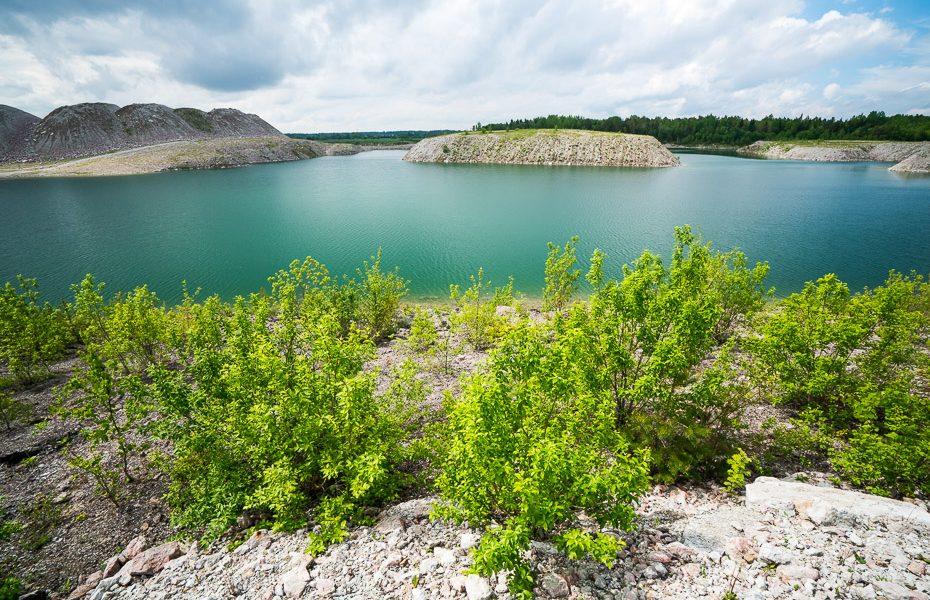 aidu quarry blue water