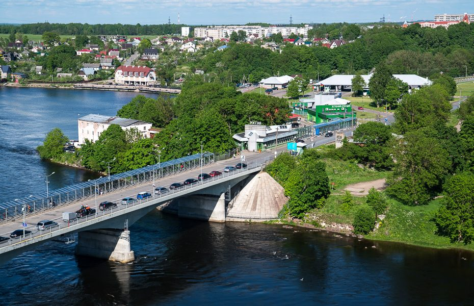 view to russian border and ivangorod from narva